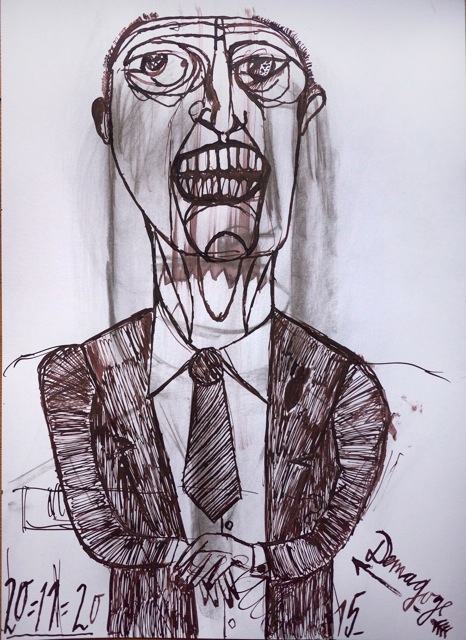 Feder/Tusche, 2015,  42 x 29,7 cm