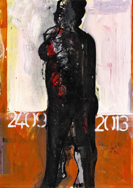 Mischtechnik/Karton 21 x 14,8 cm