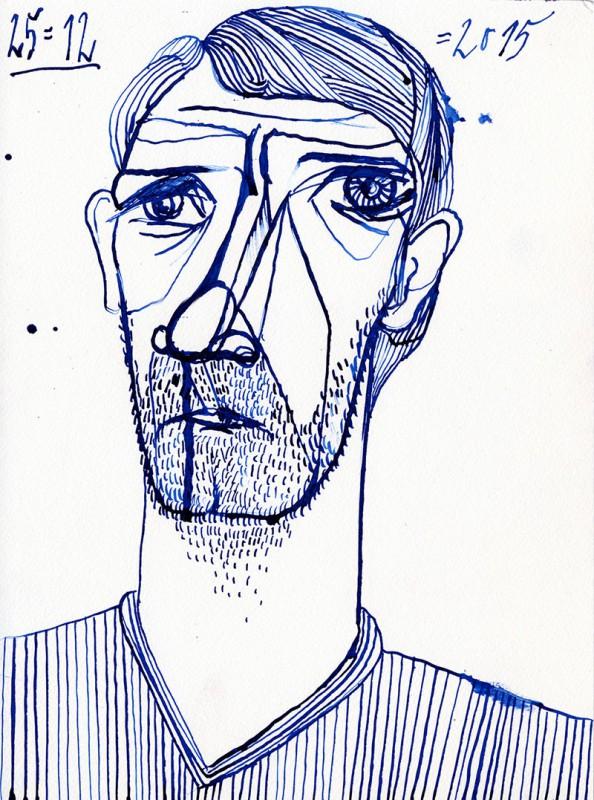 Feder/Tusche, 2015, 24 x 32 cm