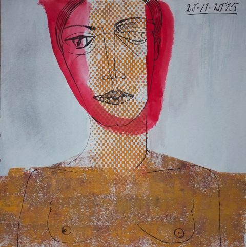Mischtechnik, 2015,  50 x 50 cm