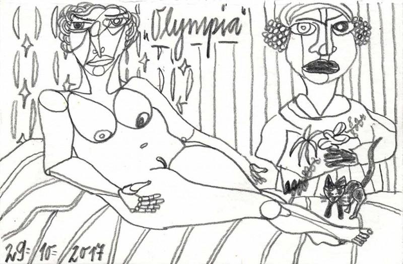 Olympia VI, 2017, Grafit 10 x 15 cm