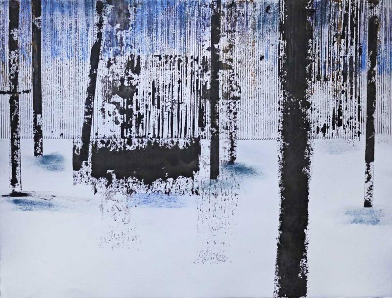 Mischtechnik/Aquarell-Büttenkarton 50 x 65 cm