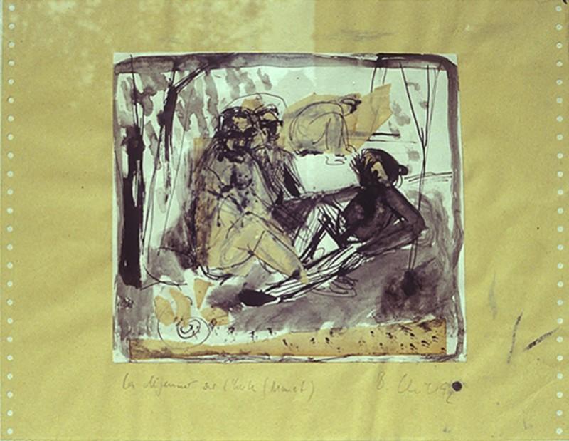 Le Déjeuner sur l'herbe II, 1992, MT, 50 x 65 cm